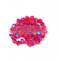 Swarovski bicone 4mm - Light Siam Shimmer 2x