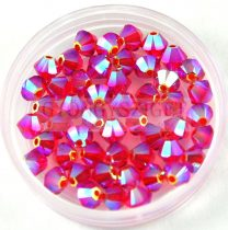 Swarovski bicone 4mm - light siam ab 2x