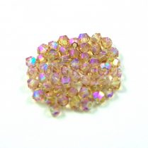 Swarovski bicone 3mm - light colorado topaz shimmer ab 2x