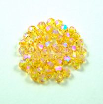 Swarovski bicone 3mm - light topaz shimmer ab 2x