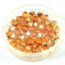 Swarovski bicone 6mm - crystal metallic sunshine