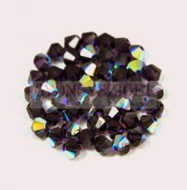 Swarovski bicone 4mm - purple velvet ab