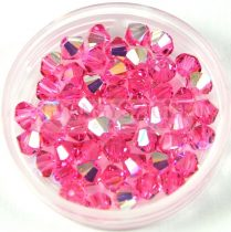 Swarovski bicone 4mm - rose ab
