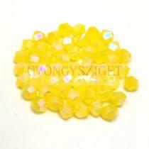 Swarovski bicone 3mm - Yellow Opal Shimmer 2x