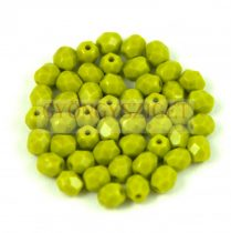 Cseh csiszolt golyó gyöngy - Opaque Olive - 3mm