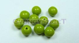 Cseh préselt golyó gyöngy - telt olivazöld -4mm