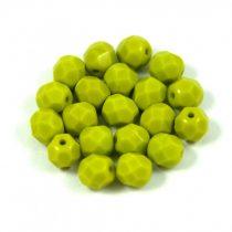 Cseh csiszolt golyó gyöngy - telt oliva -6mm