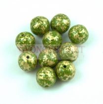 Cseh préselt golyó - Green Gold Patina - 3mm