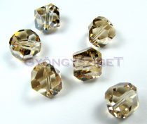 Swarovski - 5603 - Crystal golden shadow graphic cube -8mm