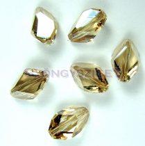 Swarovski - 5650 - Crystal golden shade cubist gyöngy - 12x8mm