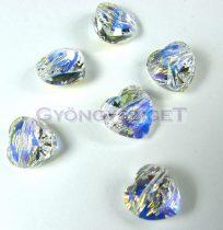 Swarovski - 5742 - crystal ab szív gyöngy - 10mm