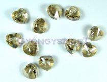 Swarovski - 5742 - crystal golden shadow szív gyöngy -8mm