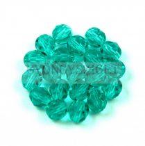 Cseh csiszolt golyó gyöngy - Light  Emerald - 6mm