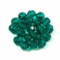 Cseh csiszolt golyó gyöngy -  emerald -6mm