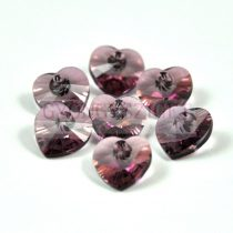 Swarovski fűzhető szív 10.3x10.0mm - crystal antique pink