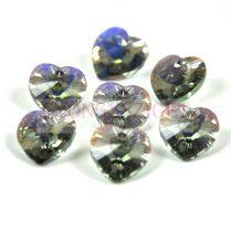 Swarovski fűzhető szív 10.3x10.0 mm - black diamond ab