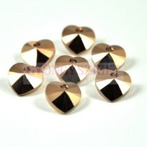 Swarovski fűzhető szív 10.3x10.0mm - crystal rose gold 2x