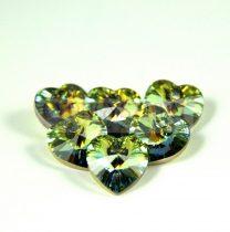 Swarovski fűzhető szív 10.3x10.0 mm - crystal sahara