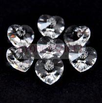 Swarovski fűzhető szív 10.3x10.0mm - crystal (fóliázatlan)