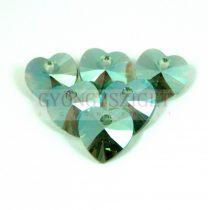 Swarovski fűzhető szív 10.3x10.0 mm - erinite shimmer