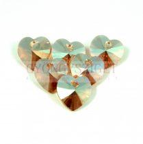 Swarovski fűzhető szív 10.3x10.0 mm - light colorado topaz shimmer