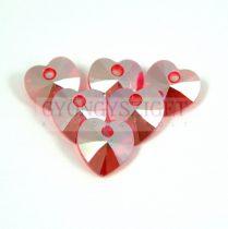 Swarovski fűzhető szív 10.3x10.0 mm - light siam shimmer