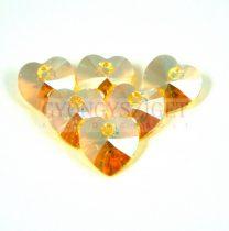 Swarovski fűzhető szív 10.3x10.0 mm - light topaz shimmer