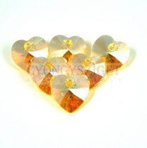 Swarovski beadable heart 10.3x10.0 mm - Light Topaz Shimmer