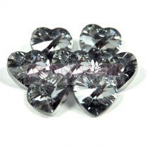 Swarovski Xilion Heart  Pendant 14.4x14mm - Crystal Light Chrome