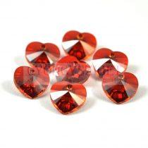 Swarovski fűzhető szív 10.3x10.0mm - crystal red magma