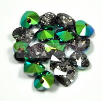 Swarovski fűzhető szív 10.3x10.0mm - Crystal Scarabaeus Green