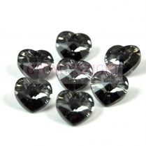 Swarovski fűzhető szív 10.3x10.0mm - crystal silver night