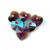 Swarovski fűzhető szív 10.3x10.0 mm - Amethyst Shimmer