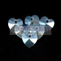 Swarovski fűzhető szív 14mm - white opal moonlight