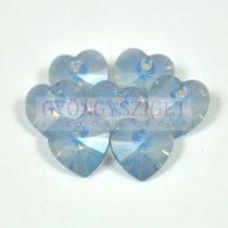 Swarovski fűzhető szív 10.3x10.0mm - white opal blue shade