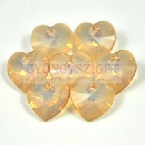 Swarovski fűzhető szív 10.3x10.0mm - white opal golden shadow