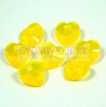 Swarovski fűzhető szív 10.3x10.0 mm - yellow opal