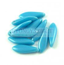 Lándzsa (szirom) cseh préselt üveggyöngy - Turquoise Blue Luster - 5x16mm