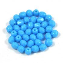Cseh csiszolt golyó gyöngy - Opaque Turquoise Blue - 4mm