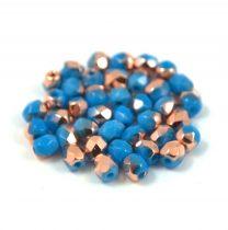 Cseh csiszolt golyó gyöngy - telt kék apollo - 4mm