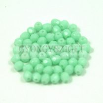 Cseh csiszolt golyó gyöngy -  Light Turquoise Green - 3mm