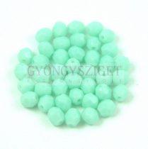 Cseh csiszolt golyó gyöngy -  Light Turquoise - 4mm