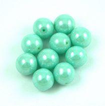 Préselt golyó gyöngy- Opaque Mint Luster - 8mm