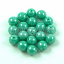 Cseh préselt golyó - Green Turquoise Luster - 4mm