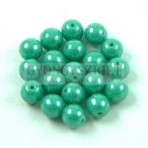 Cseh préselt golyó - Green Turquoise Luster - 6mm