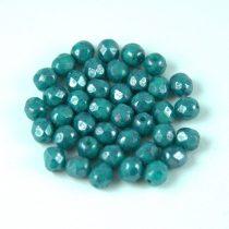 Cseh csiszolt golyó gyöngy - Turquoise Green Blue Luster - 4mm