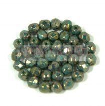 Cseh csiszolt golyó gyöngy - green turquoise senegal - 3mm