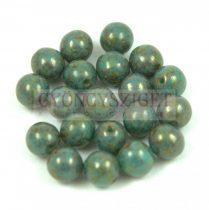 Cseh préselt golyó - Turquoise Green Senegal - 6mm