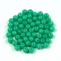 Cseh préselt golyó gyöngy - telt türkiz zöld-3mm-p