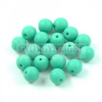 Cseh préselt golyó - Matt Green Turquoise -6mm
